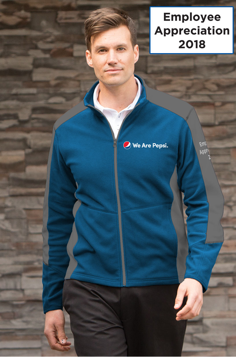 Men's Everyday Fleece Color Block Jacket - We Are Pepsi