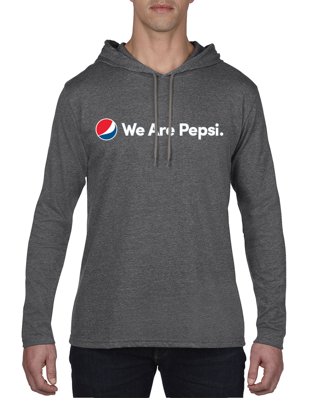 Men's Lightweight Hooded Long Sleeve Tshirt - We Are Pepsi