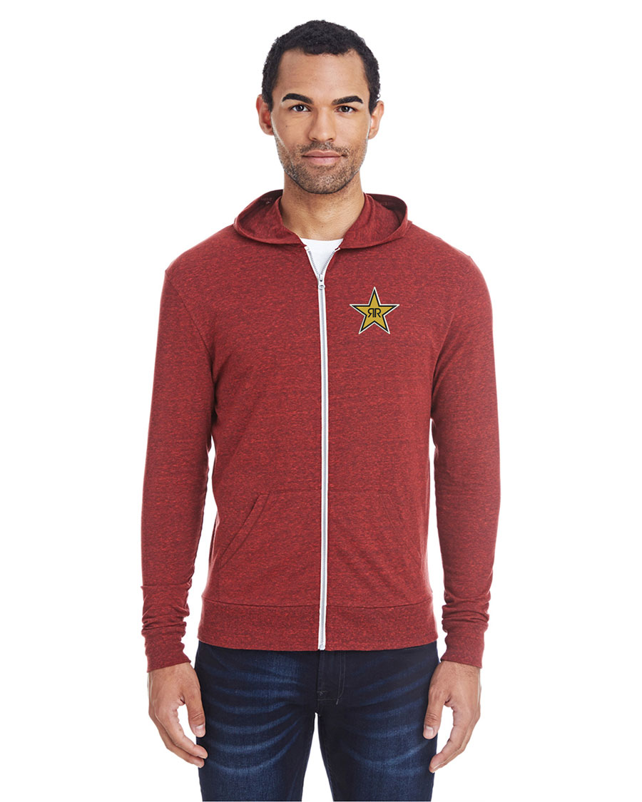 Unisex Triblend Full-Zip Light Hoodie - Rockstar