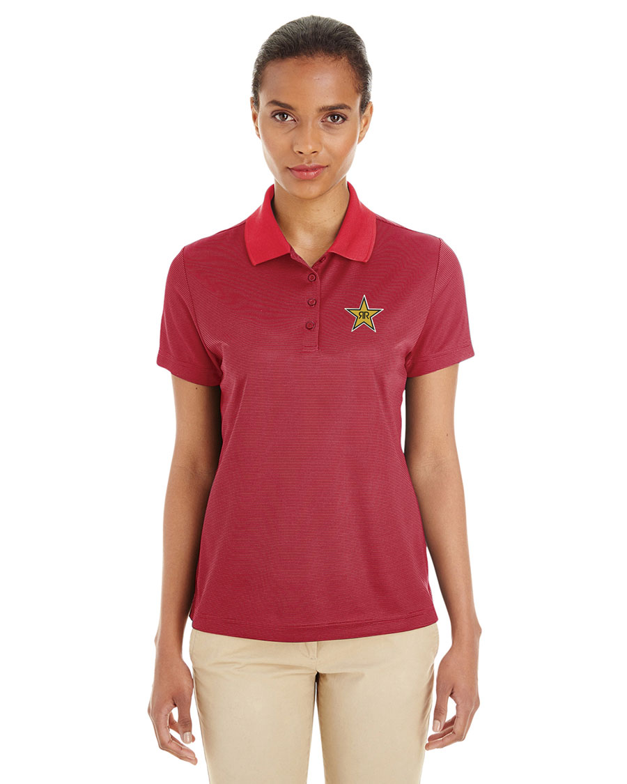 Ladies' Express Microstripe Performance Piqué Polo - Rockstar