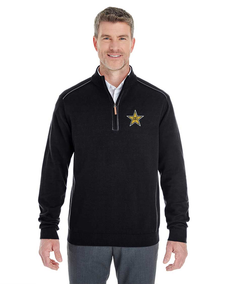 Men's Manchester Fully-Fashioned Quarter-Zip Sweater - Rockstar
