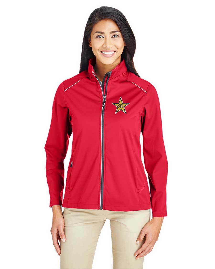 Ladies' Techno Lite Three-Layer Knit Tech-Shell Jacket - Rockstar