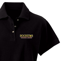 Ladies' Desert Sands Golf Shirt - Rockstar