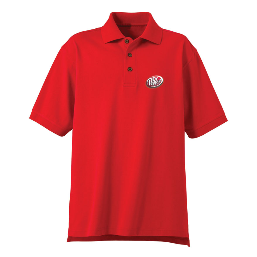 Men 39 s desert sands golf shirt dr pepper for Name brand golf shirts