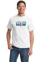 Live for Now Mens T-Shirt - White