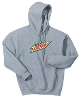 50/50 Hooded Sweatshirt Grey (Unisex) - MTN Dew