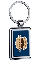 Two Sided Budget Chrome Plated Domed Keychain - Movember
