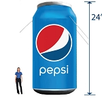Inflatable Pepsi Can - 24'