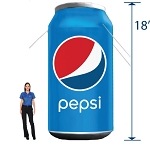RENT Inflatable Pepsi Can - 18'