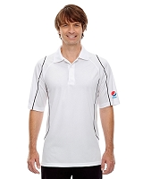 Men's Snag Protection Colour-Block Polo With Piping - Pepsi