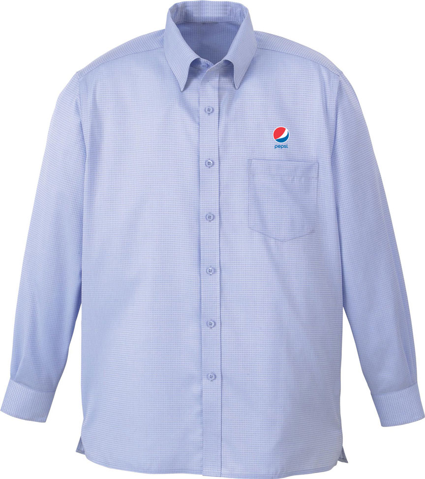Men 39 s wrinkle free 2 ply 80s cotton jacquard taped shirt for 2 ply cotton dress shirt