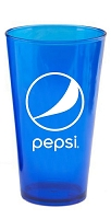 16 oz Plastic Pint - 50pcs/Pack - Pepsi - Login For Special $