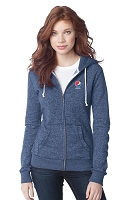 District® - Juniors Marled Fleece Full-Zip Hoodie - Pepsi