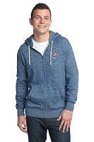 District® - Young Mens Marled Fleece Full-Zip Hoodie - Pepsi