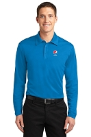 Silk Touch™ Performance Long Sleeve Polo - Pepsi