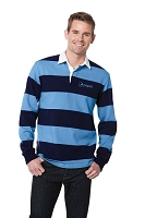 Sport-Tek® Long Sleeve Rugby Polo - Pepsi