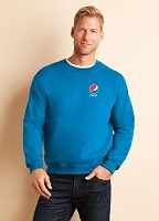 Premium Cotton Ring Spun Fleece Crewneck Sweatshirt - Pepsi