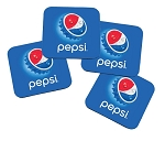 Square Deluxe Laminated Coaster with Rubber Backing - Pepsi Bottlecap