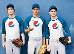 Adult Baseball T-Shirt - Pepsi Globe