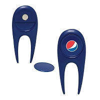 Perfect Fixer Golf Divot Repair Tool - Pepsi Globe