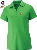 Ladies' Performance Stretch Embossed Print Polo - Green