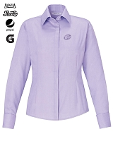 REFINE LADIES' BLUE WRINKLE FREE 2-PLY 80'S COTTON ROYAL OXFORD DOBBY TAPED SHIRTS