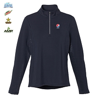 Ladies' caltech knit quarter zip