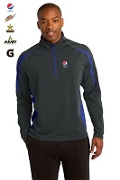 Men's Stretch 1/2-Zip Colorblock Pullover