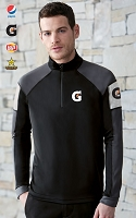 Men's Performance Interlock Half-Zip Tops