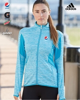Adidas Golf Ladies' Space Dyed Full-Zip Jacket