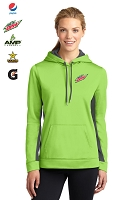 Ladies Sport-Wick® Fleece Colorblock Hooded Pullover