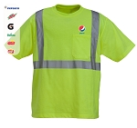 High Visibility Poly-Cotton knitted Jersey T-Shirt with Pocket - Pepsi