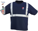100% polyester Wicking T Shirt With 3M Silver Reflectitve Material - Pepsi