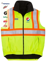 New High Visibility Reversible Fleece Lined Vest - Pepsi