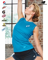 New Balance Ladies' NDurance Athletic V-Neck Workout T-Shirt