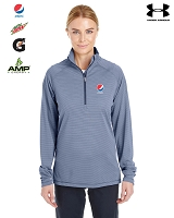 Ladies' UA Corp Stripe Quarter-Zip Pullover