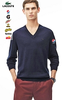 Lacoste Men's Cotton V-Neck Sweater