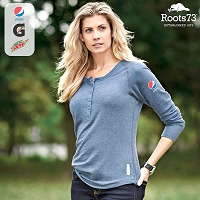 Ladies' Riverrock Roots73 Henley Shirt