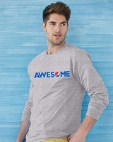 Ultra Cotton® 10 oz. Long-Sleeve T-Shirt - AWESOME