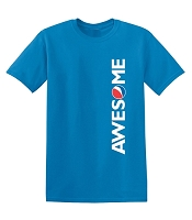 AWESOME Banner T-Shirt (Sapphire)