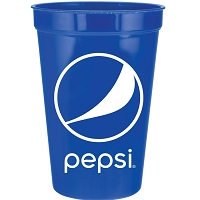16 oz Stadium Cup - 100pcs/Pack - Pepsi