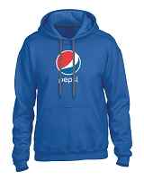 Premium Cotton Ring Spun Fleece Hooded Sweatshirt - Pepsi