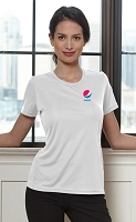 Ladies Dri Fit T-Shirt (White) - Pepsi