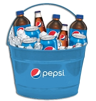 Blue 4 Gallon Bucket - Pepsi