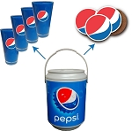 Pepsi 2 Gallon Cooler Barrel Gift Set