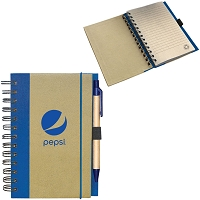 RECYCLED CARDBOARD NOTEPAD - Pepsi