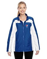 Ladies' Excel Mélange Interlock Performance Quarter-Zip Top - Pepsi
