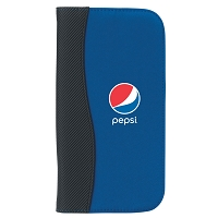 Microfiber Travel Wallet With Embossed PVC Trim - Pepsi