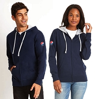 Adult  Unisex French Terry Zip Hoody - Pepsi