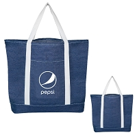Denim Shopping Tote Bag - Pepsi